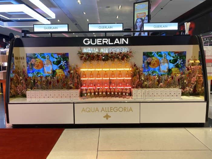 PLV parfum cosmétique Guerlain - Réalisation Groupe Elba